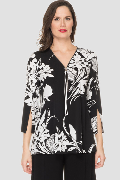 Joseph Ribkoff Black/White Shirts & Blouses Style 193649