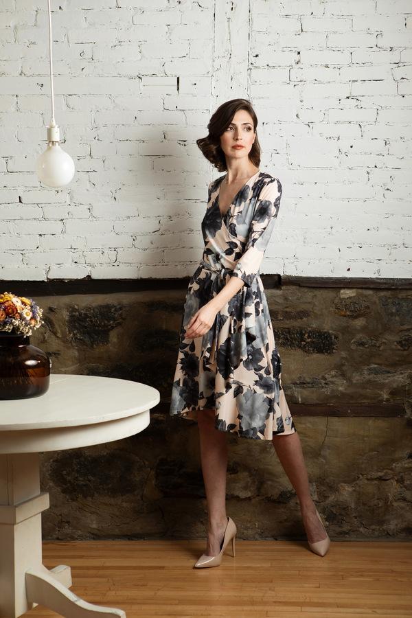 Joseph Ribkoff Pink/Grey/Black Dresses Style 193623