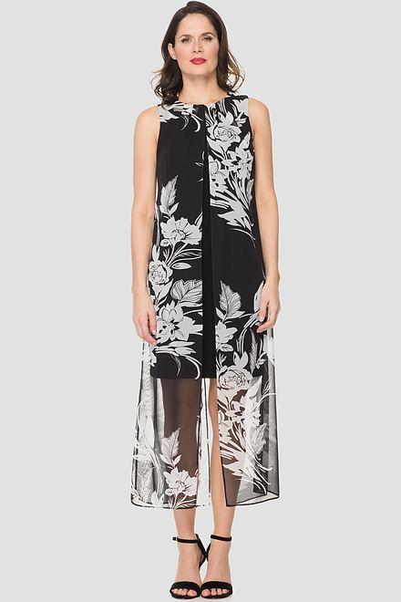 Joseph Ribkoff Robes Noir/Blanc Style 193578