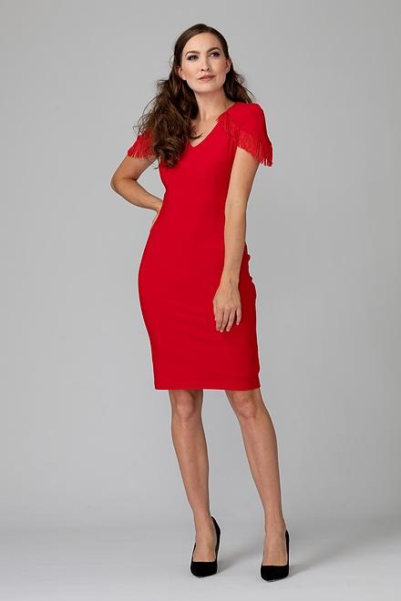Joseph Ribkoff Lipstick Red 173 Dresses Style 193002