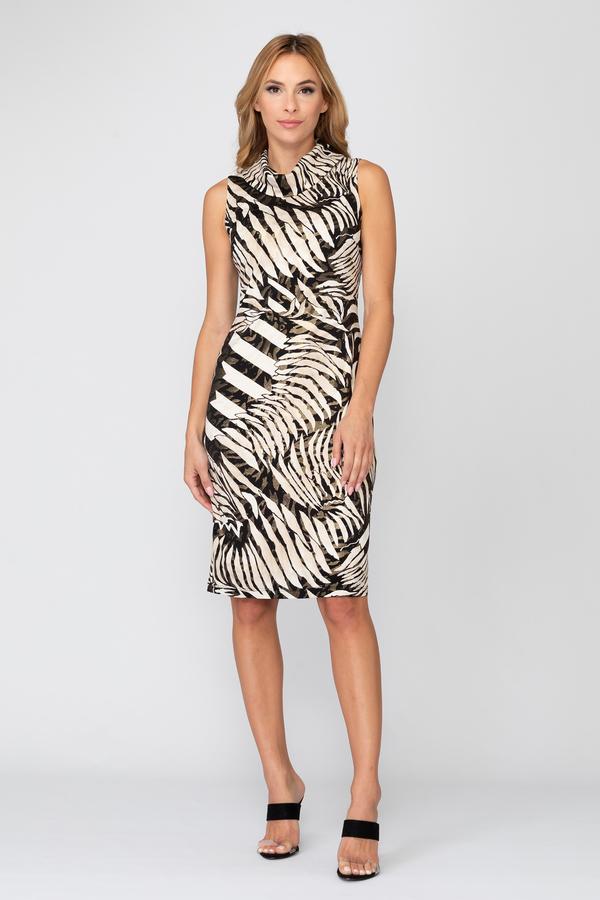 Joseph Ribkoff Black/Beige Dresses Style 193012X