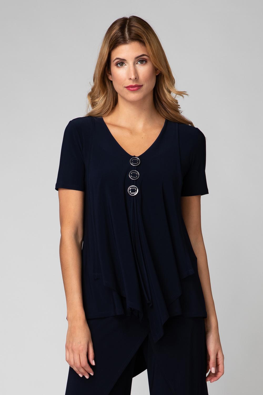 Joseph Ribkoff Tee-shirts et camisoles Bleu Minuit 40 Style 193131