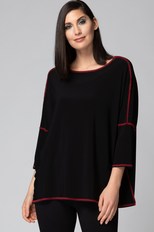 Joseph Ribkoff Tee-shirts et camisoles Noir/Rouge Style 193146