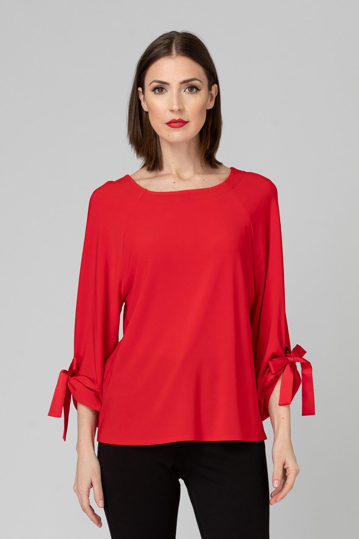 Joseph Ribkoff Lipstick Red 173 Shirts & Blouses Style 193154