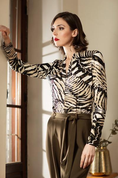 Joseph Ribkoff Tee-shirts et camisoles Noir/Beige Style 193156X