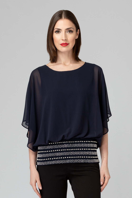 Joseph Ribkoff Chemises et blouses Bleu Minuit 40 Style 193212