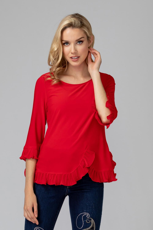 Joseph Ribkoff Lipstick Red 173 Shirts & Blouses Style 193256