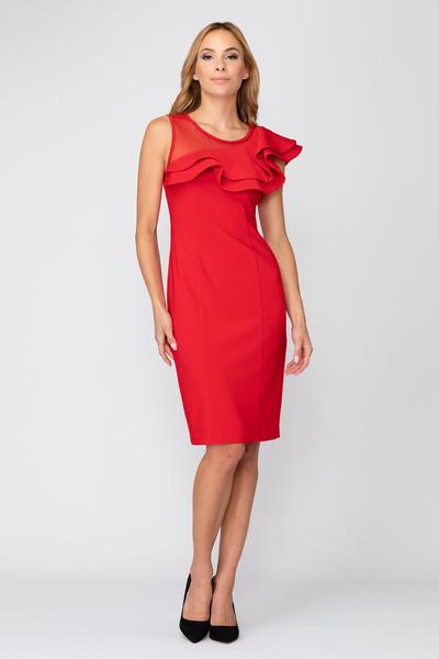 Joseph Ribkoff Lipstick Red 173 Dresses Style 193298