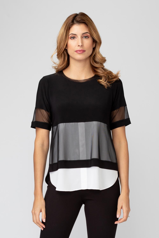 Joseph Ribkoff Black/Off-white Tees & Camis Style 193302