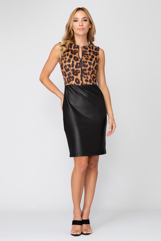 Joseph Ribkoff Beige/Black Dresses Style 193545