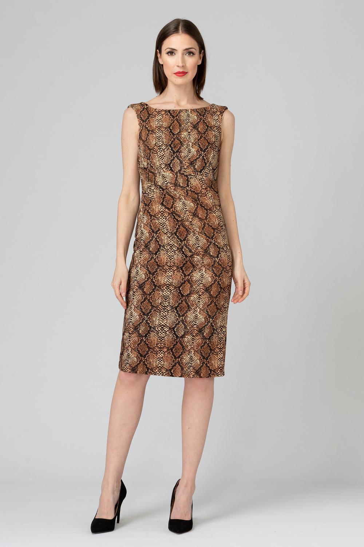 Joseph Ribkoff Brown/Black Dresses Style 193558
