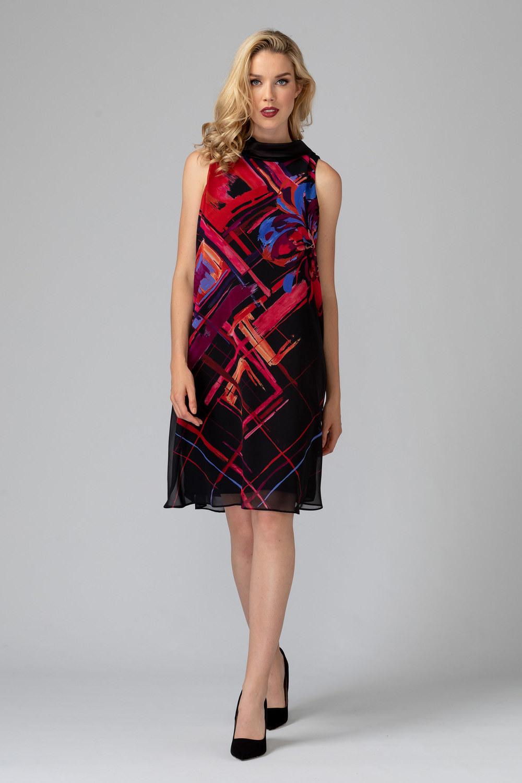 Joseph Ribkoff Black/Multi Dresses Style 193568