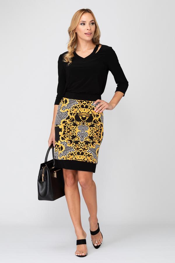 Joseph Ribkoff Black/Gold Skirts Style 193588