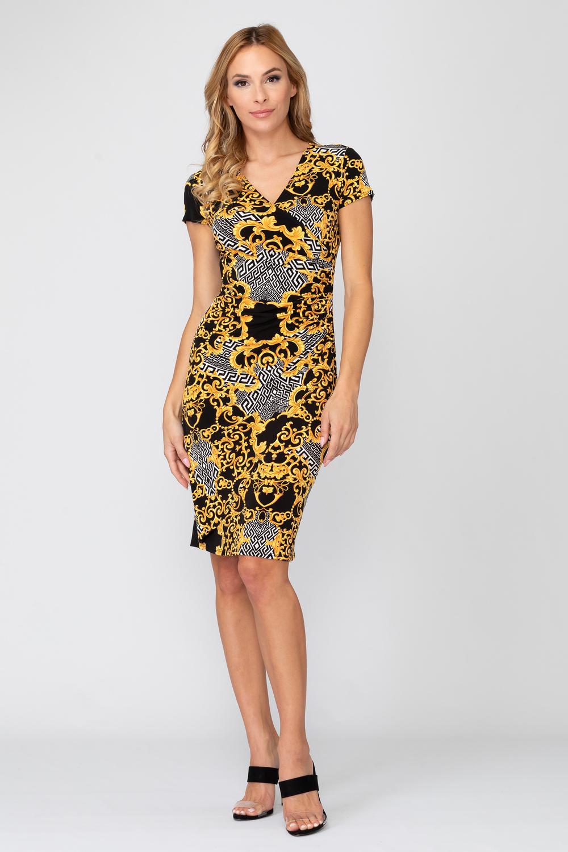Joseph Ribkoff Black/Gold Dresses Style 193590