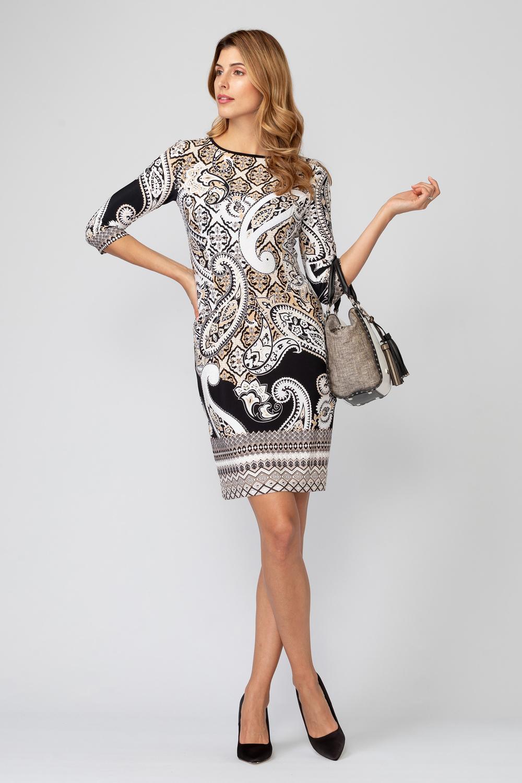 Joseph Ribkoff BLACK/TAN/IVORY Dresses Style 193667