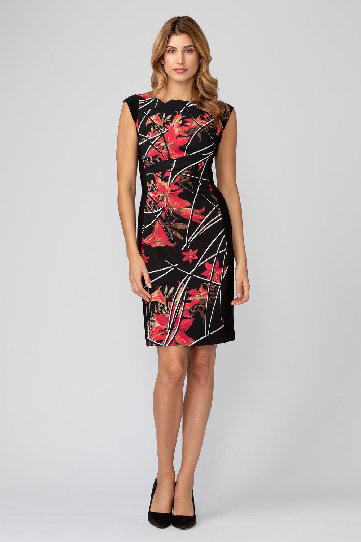 Joseph Ribkoff Black/Multi Dresses Style 193668