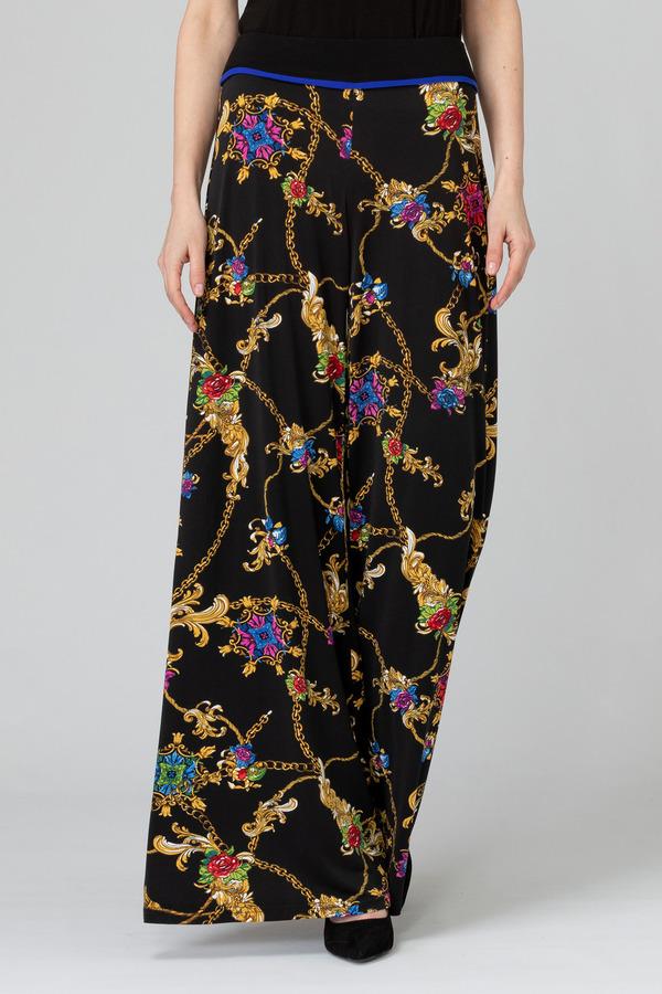 Joseph Ribkoff Black/Multi Pants Style 193679