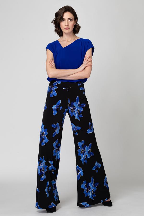 Joseph Ribkoff Pantalons Noir/Bleu Style 193690