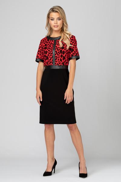 Joseph Ribkoff Robes Noir/Rouge Style 193696