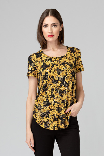 Joseph Ribkoff Black/Gold Tees & Camis Style 193697