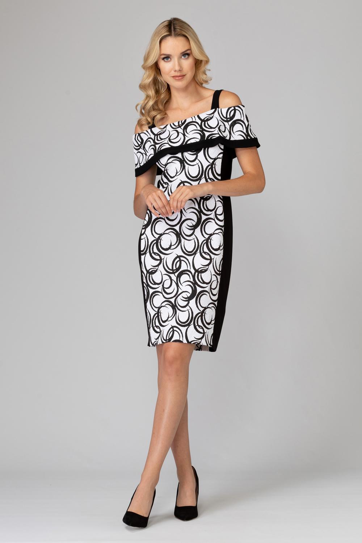 Joseph Ribkoff Black/White Dresses Style 193700