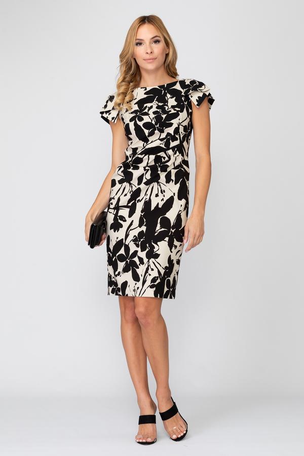 Joseph Ribkoff Beige/Black Dresses Style 193735