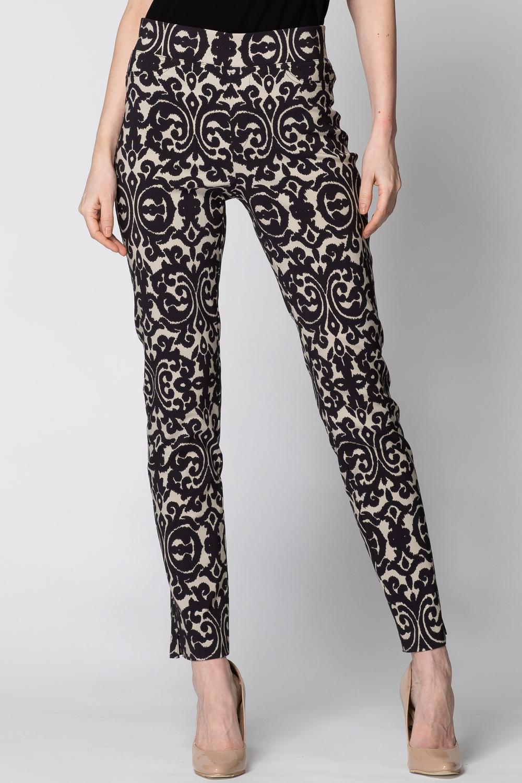 Joseph Ribkoff Taupe/Black Pants Style 193770