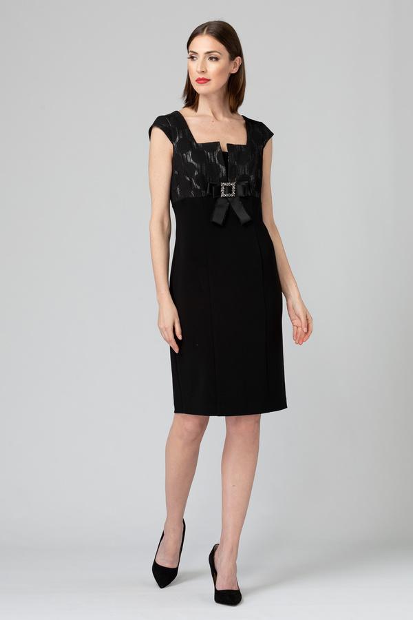 Joseph Ribkoff dress style 193788. Black/Silver
