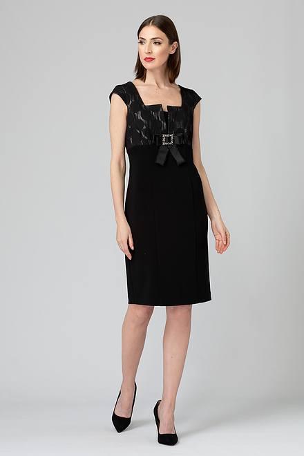 Joseph Ribkoff Black/Silver Dresses Style 193788