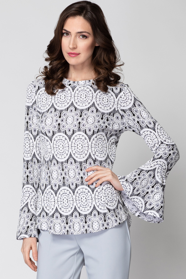 Joseph Ribkoff Chemises et blouses Noir/Blanc Style 193828