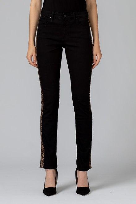 Joseph Ribkoff Pantalons Noir/Leopard Style 193996