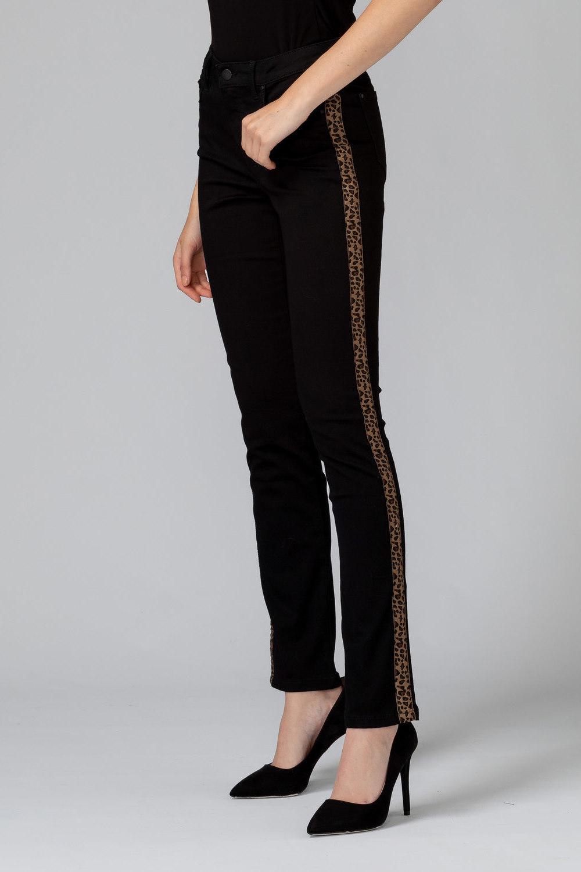 Joseph Ribkoff Black/Leopard Pants Style 193996