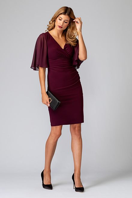 Joseph Ribkoff CABERNET Dresses Style 194013