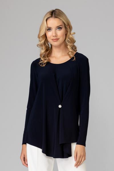 Joseph Ribkoff Midnight Blue 40 Tees & Camis Style 194117