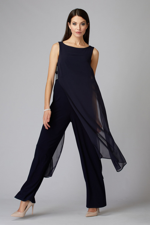 Joseph Ribkoff Midnight Blue 40 Jumpsuits Style 194213