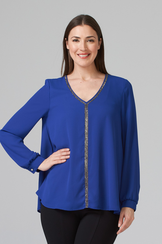 Joseph Ribkoff Royal Sapphire 163 Shirts & Blouses Style 194232