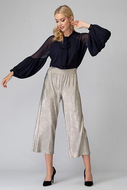 Joseph Ribkoff Pantalons Gris/Or Style 194549