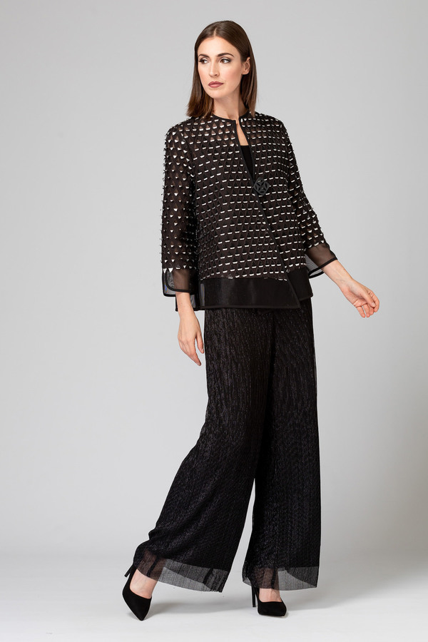 Joseph Ribkoff Pantalons Noir/Argent Style 194559