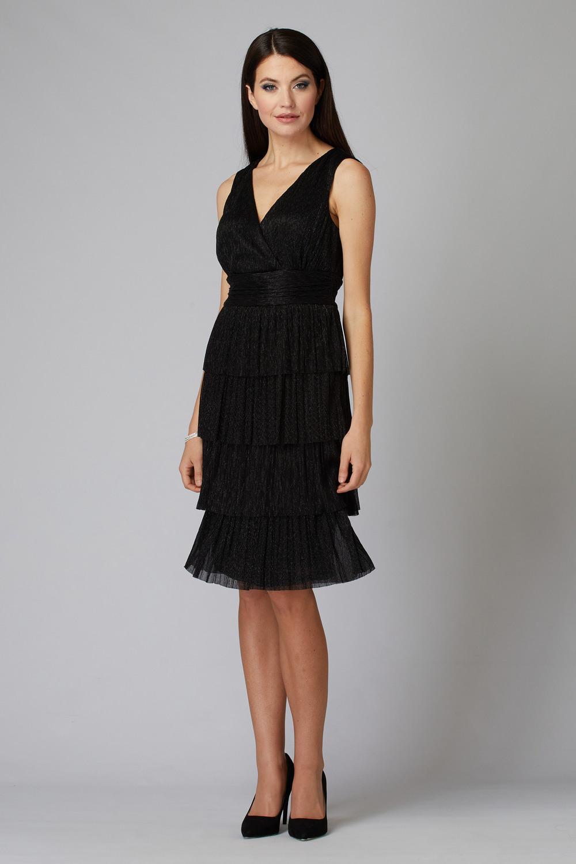 Joseph Ribkoff Robes Noir/Argent Style 194560