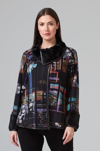 Joseph Ribkoff Black/Multi Jackets Style 194611