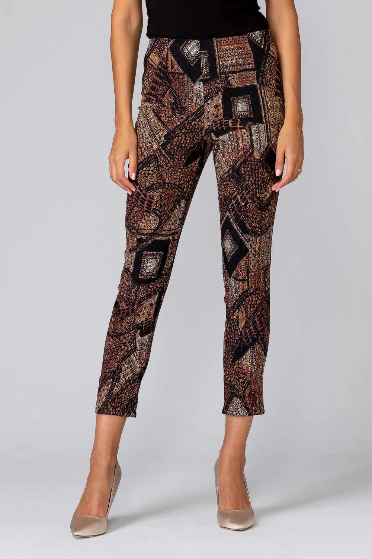 Joseph Ribkoff Pantalons Noir/Brun Style 194615