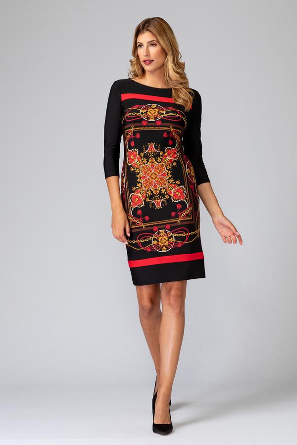 Joseph Ribkoff Black/Multi Dresses Style 194652
