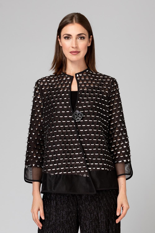 Joseph Ribkoff Black/Silver Jackets Style 194799