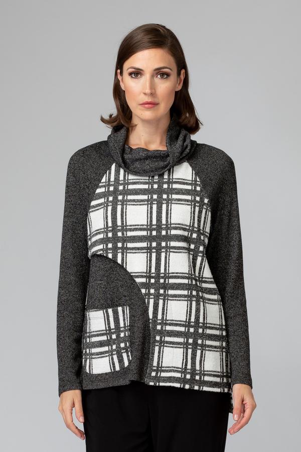 Joseph Ribkoff WHITE/BLACK/CHARCOAL GREY Sweaters Style 194835