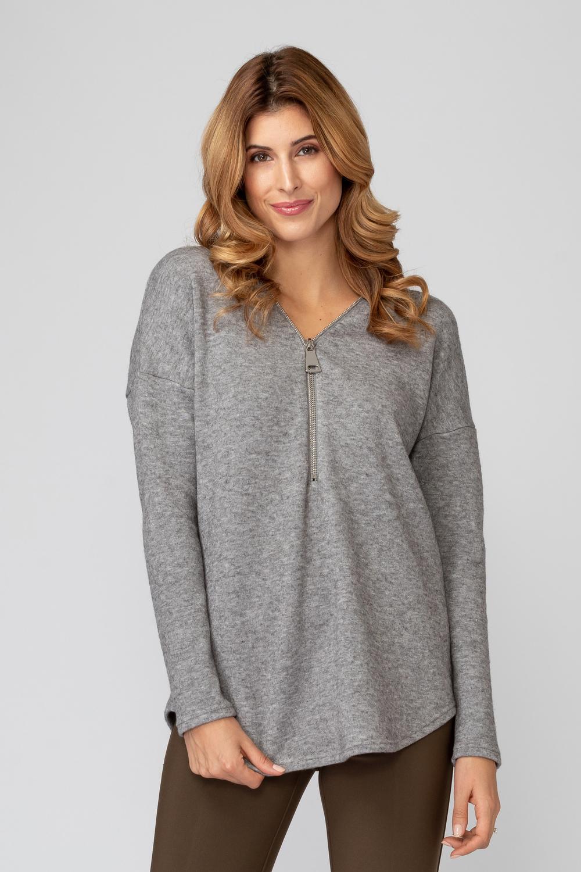Joseph Ribkoff Grey Sweaters Style 193472