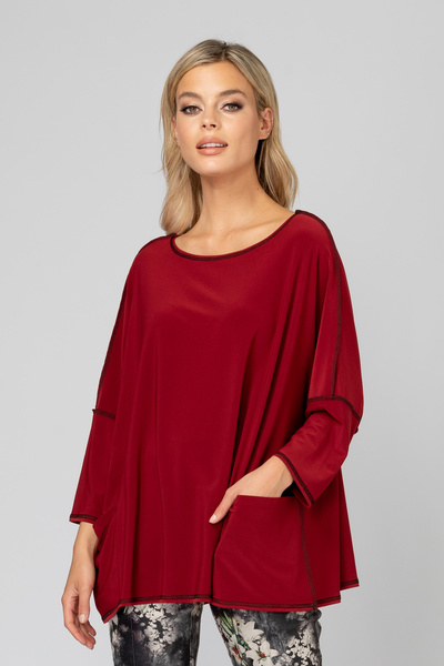Joseph Ribkoff Tee-shirts et camisoles Rouge Impérial/Noir Style 193146