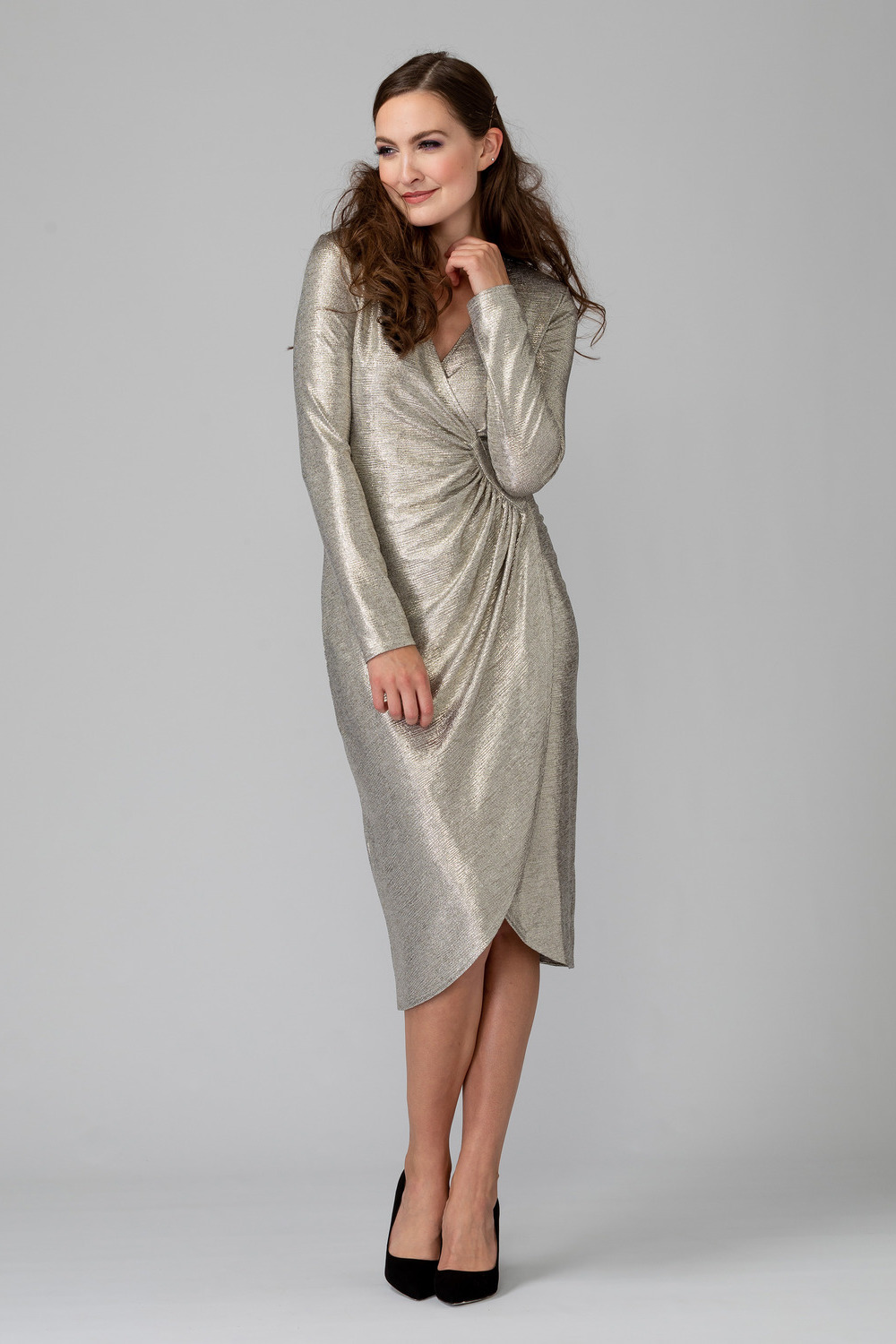 Joseph Ribkoff Robes Gris/Or Style 194550