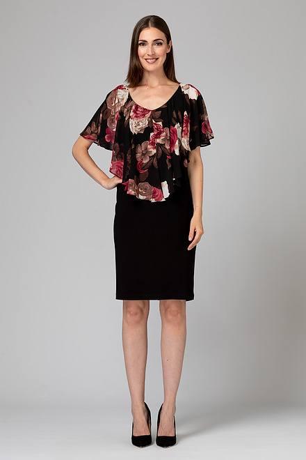 Joseph Ribkoff Black/Multi Dresses Style 194679