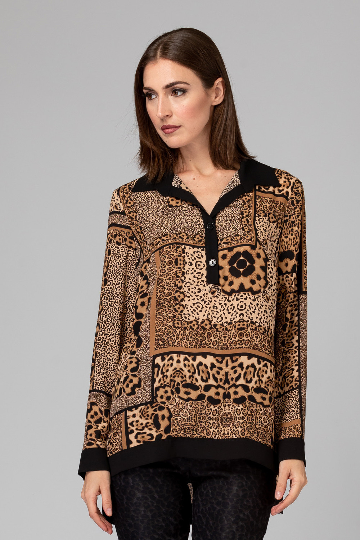 Joseph Ribkoff Chemises et blouses Noir/Beige Style 194716