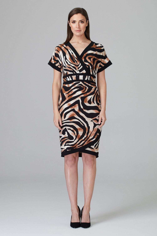 Joseph Ribkoff Black/Beige Dresses Style 201005